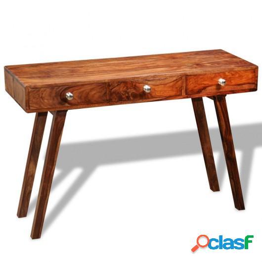 Mesa consola con 3 cajones madera maciza sheesham 76 cm