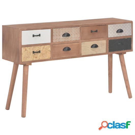 Mesa consola con 8 cajones madera maciza de pino 120x30x76