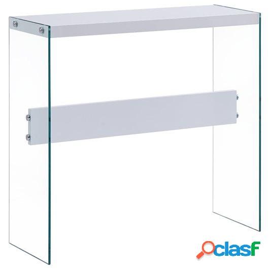 Mesa consola de MDF blanca 82x29x75,5 cm
