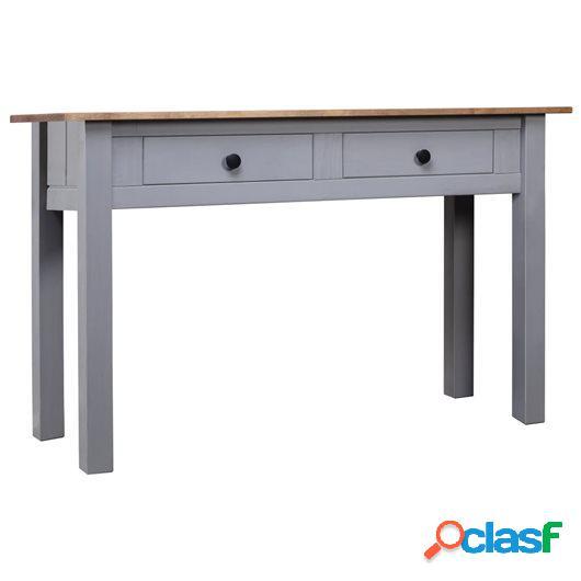 Mesa consola de madera de pino estilo Panamá gris 100x40x73