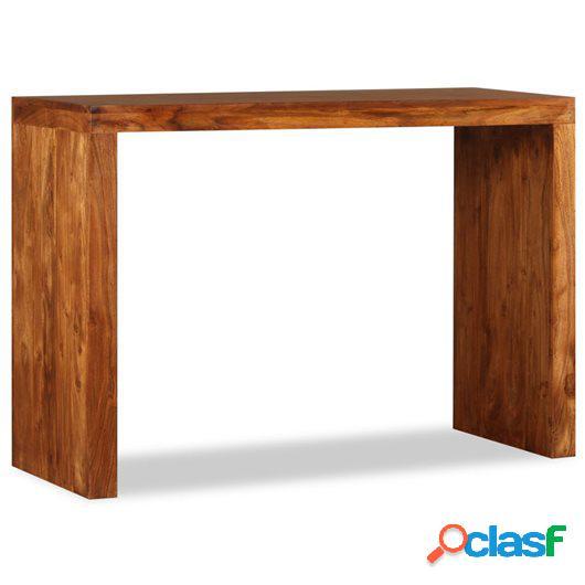 Mesa consola de madera maciza acabado de sheesham 110x40x76