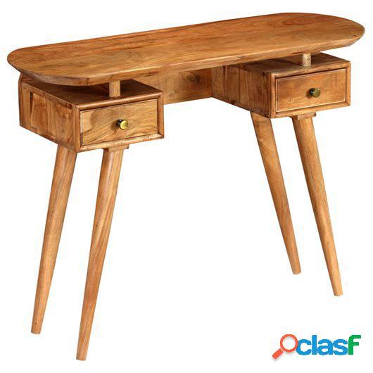 Mesa consola de madera maciza de acacia 100x35x75 cm
