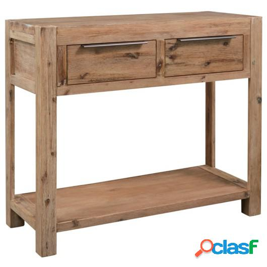 Mesa consola de madera maciza de acacia 82x33x73 cm