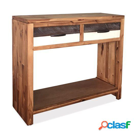 Mesa consola de madera maciza de acacia 86x30x75 cm