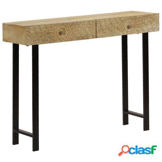 Mesa consola de madera maciza de mango 102x30x79 cm