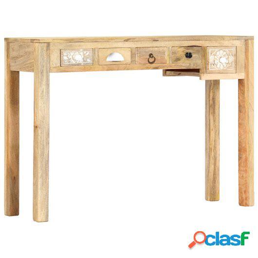 Mesa consola de madera maciza de mango 110x30x75 cm