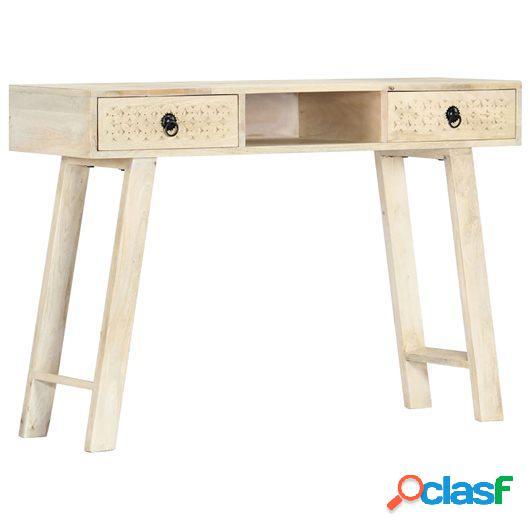 Mesa consola de madera maciza de mango 110x35x76 cm