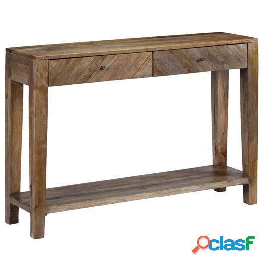 Mesa consola de madera maciza de mango 118x30x80 cm