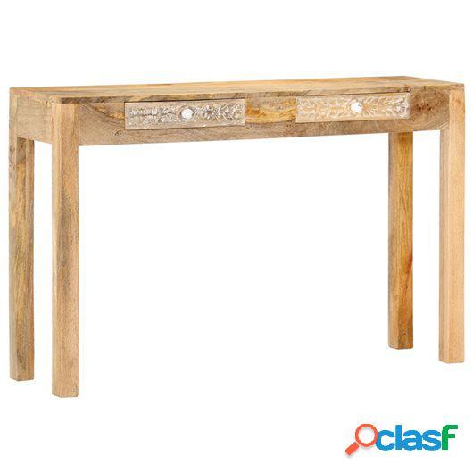 Mesa consola de madera maciza de mango 120x30x75 cm