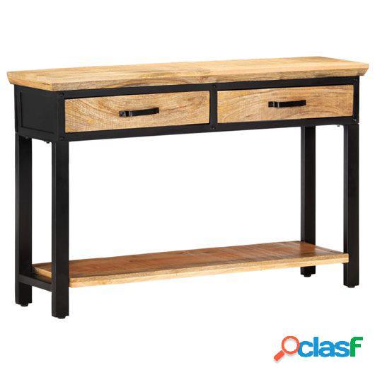 Mesa consola de madera maciza de mango 120x30x76 cm