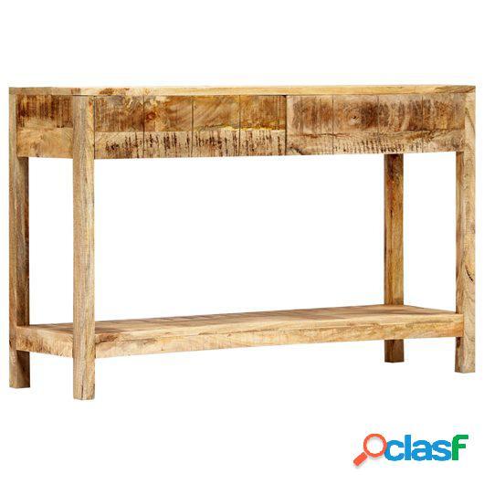 Mesa consola de madera maciza de mango 120x35x75 cm