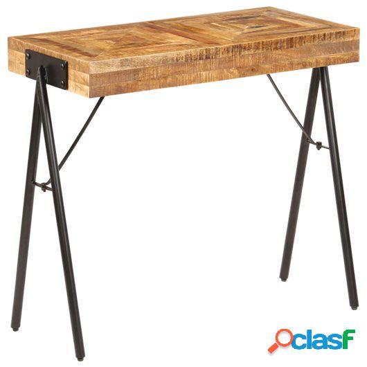 Mesa consola de madera maciza de mango 80x40x75 cm
