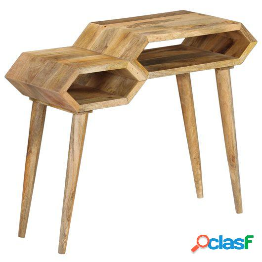 Mesa consola de madera maciza de mango 90x35x76 cm
