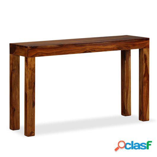 Mesa consola de madera maciza de sheesham 120x35x75 cm