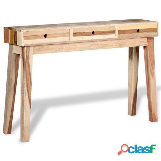 Mesa consola de madera maciza reciclada