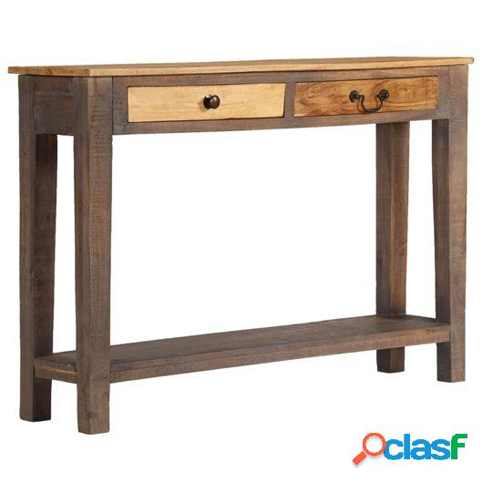 Mesa consola de madera maciza vintage 118x30x80 cm