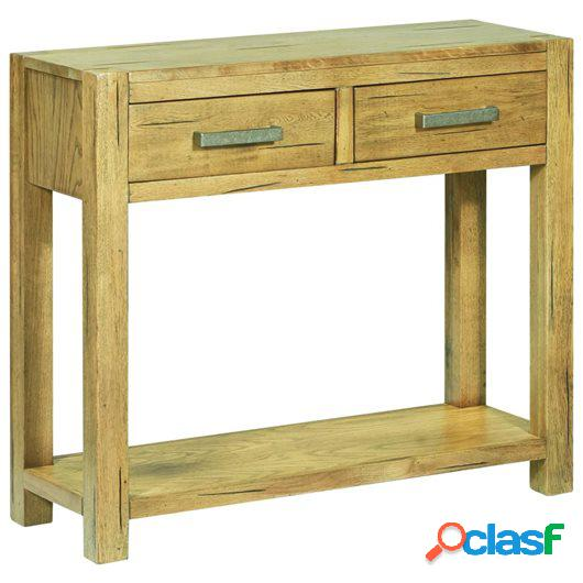 Mesa consola de madera rústica de roble 83x30x73 cm