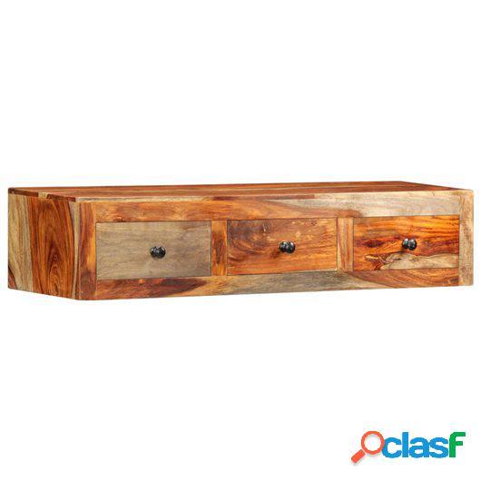Mesa consola de pared madera maciza de sheesham 100x25x20 cm