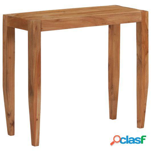 Mesa consola madera de acacia maciza 101x35x80 cm marrón