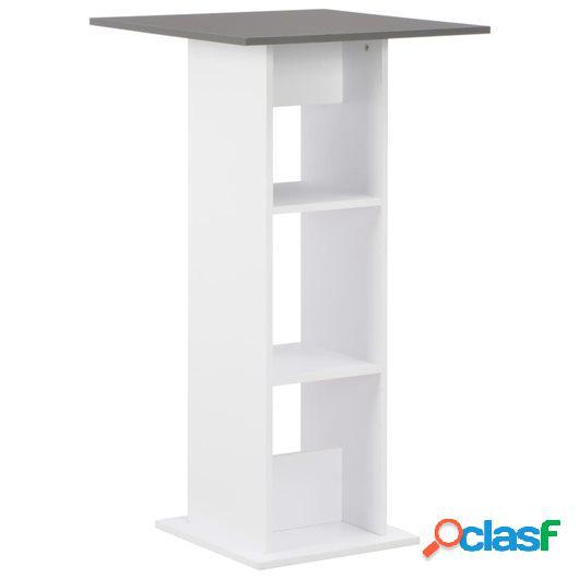 Mesa de bar color blanco 60x60x110 cm
