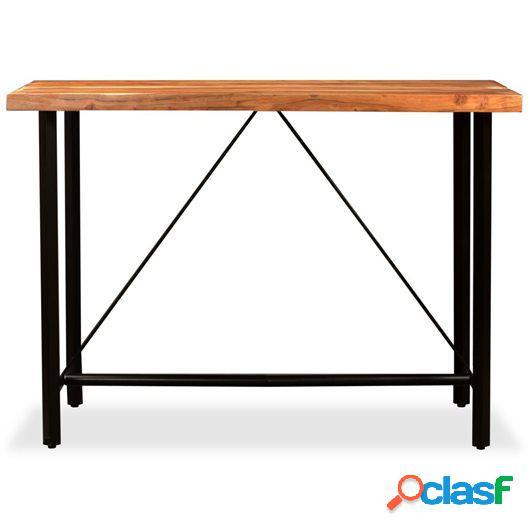 Mesa de bar de madera maciza de sheesham 150x70x107 cm