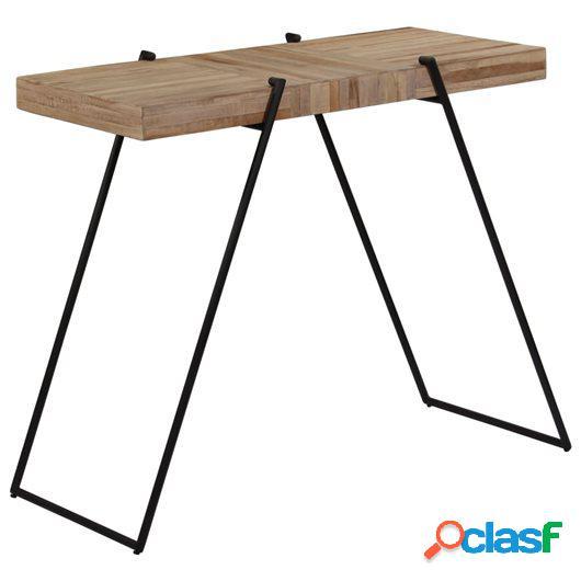 Mesa de bar de madera maciza de teca reciclada 120x55x107 cm