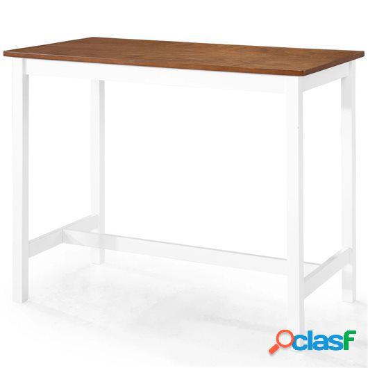 Mesa de bar madera maciza 108x60x91 cm
