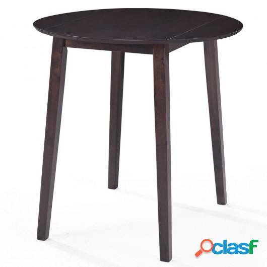 Mesa de bar madera maciza 90x91 cm marrón oscuro