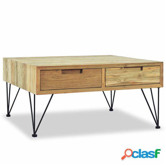 Mesa de centro 80x80x40 cm madera de teca maciza
