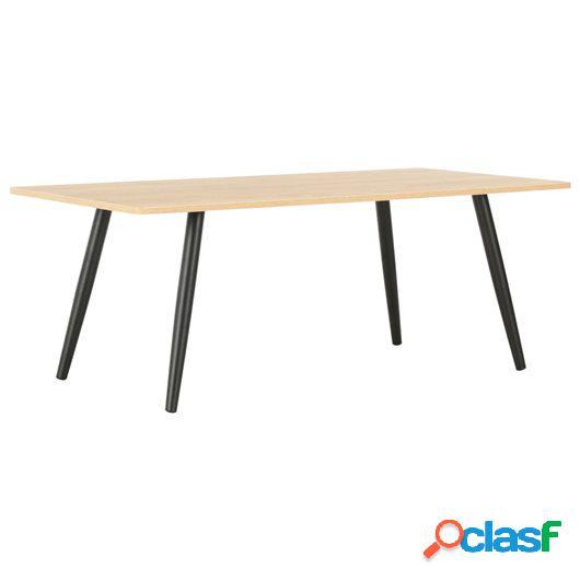 Mesa de centro color roble y negro 120x60x46 cm