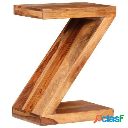 Mesa de centro con forma de Z de madera de palisandro maciza