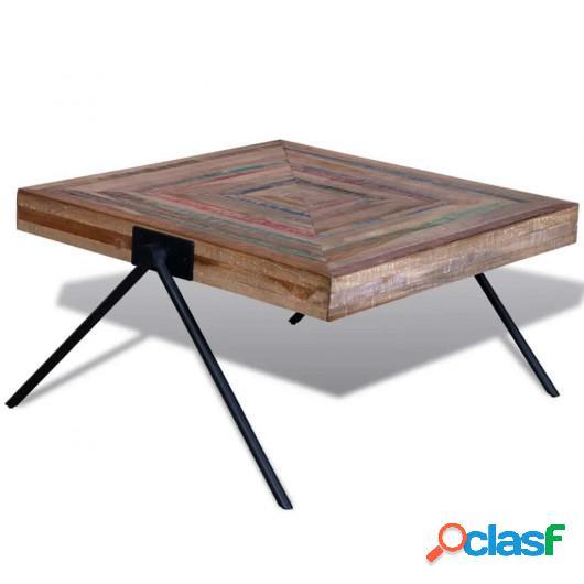 Mesa de centro con patas en forma de V madera de teca