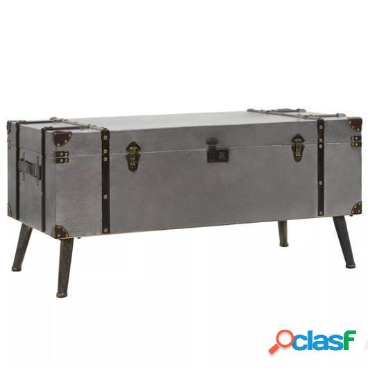 Mesa de centro de MDF y aluminio 102x51x47,5 cm