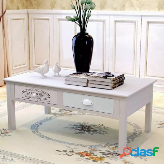 Mesa de centro de estilo francés de madera