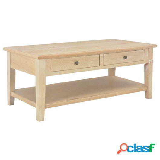 Mesa de centro de madera 100x50x40 cm