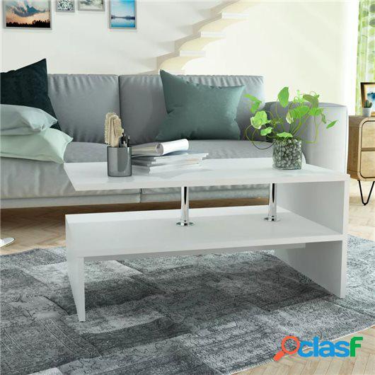 Mesa de centro de madera aglomerada 90x59x42cm blanca