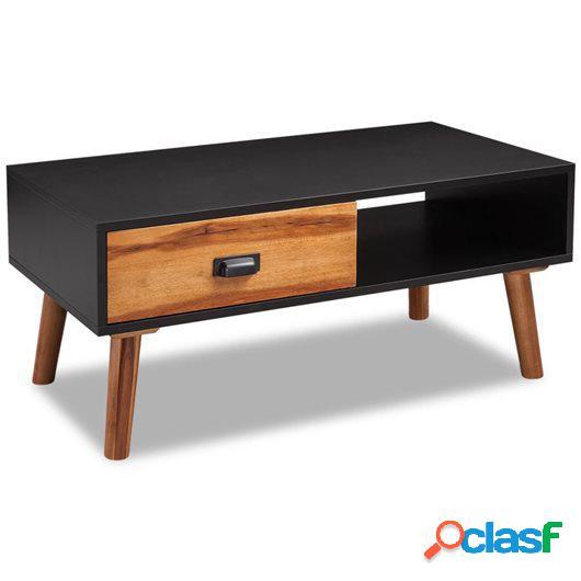 Mesa de centro de madera de acacia 90x50x40 cm