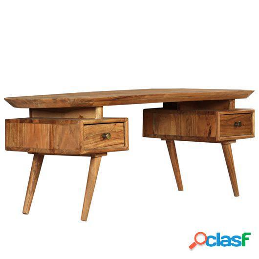 Mesa de centro de madera de acacia maciza 120x50x45 cm