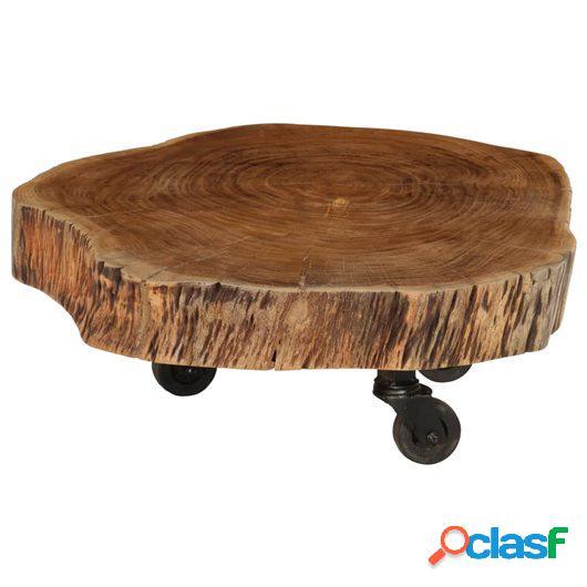 Mesa de centro de madera de acacia maciza 60x55x25 cm