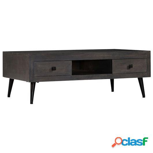 Mesa de centro de madera de mango maciza 100x60x35 cm