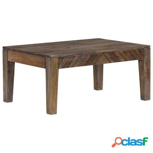 Mesa de centro de madera de mango maciza 88x60x40 cm