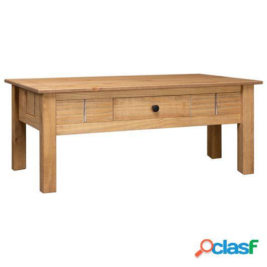 Mesa de centro de madera de pino estilo Panamá 100x60x45 cm