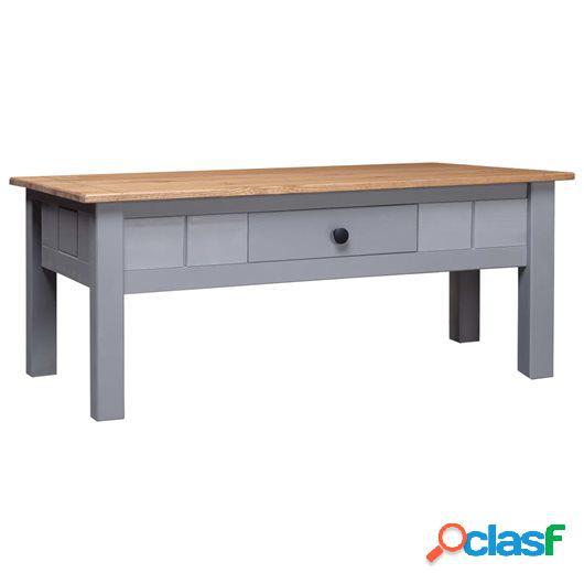 Mesa de centro de madera de pino estilo Panamá gris