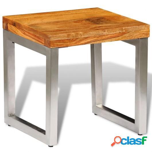 Mesa de centro de madera de sheesham maciza