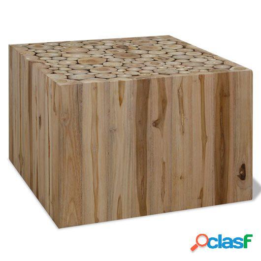 Mesa de centro de madera de teca genuina 50x50x35 cm