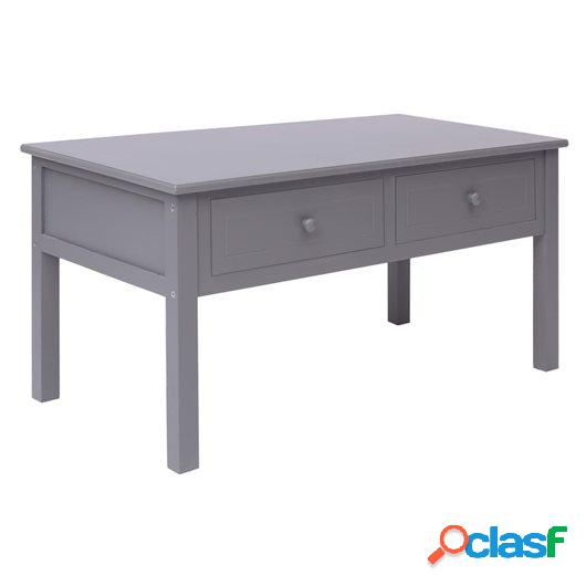 Mesa de centro de madera gris 100x50x45 cm