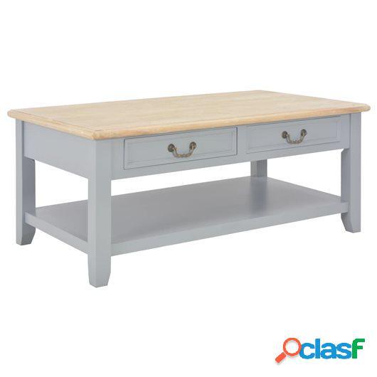 Mesa de centro de madera gris 100x55x40 cm