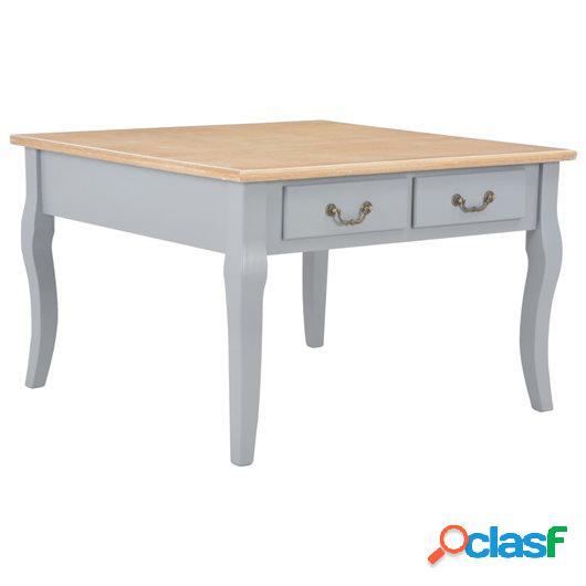 Mesa de centro de madera gris 80x80x50 cm