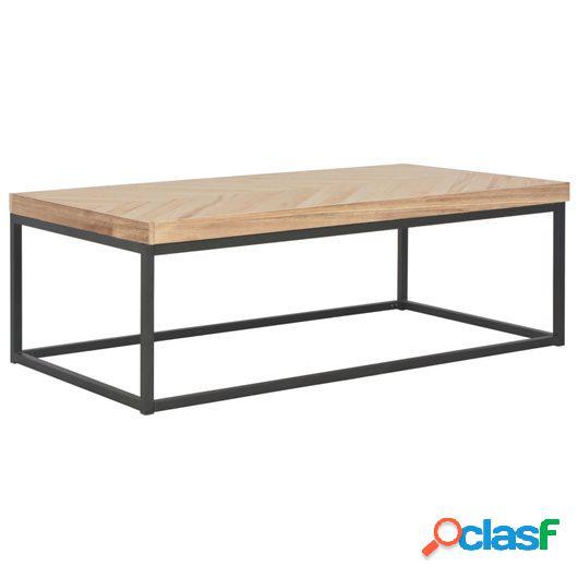 Mesa de centro de madera maciza 110x60x37 cm