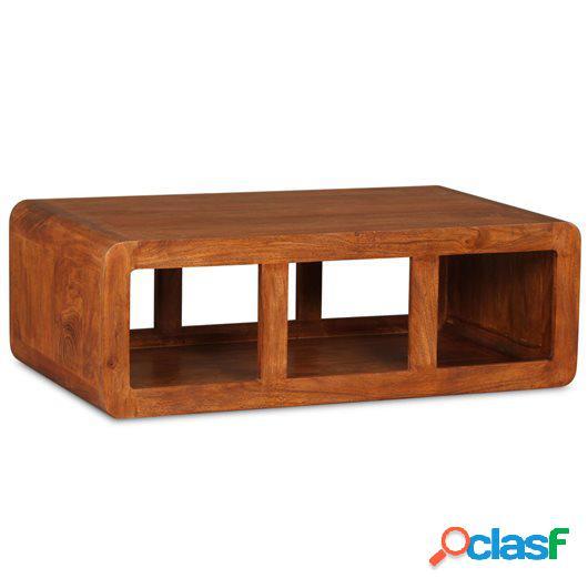 Mesa de centro de madera maciza acabado de Sheesham 90x50x30